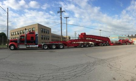 NAF ships second of three ultra large open die rings to customer in the Midwest